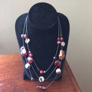 Red and Silver Necklace